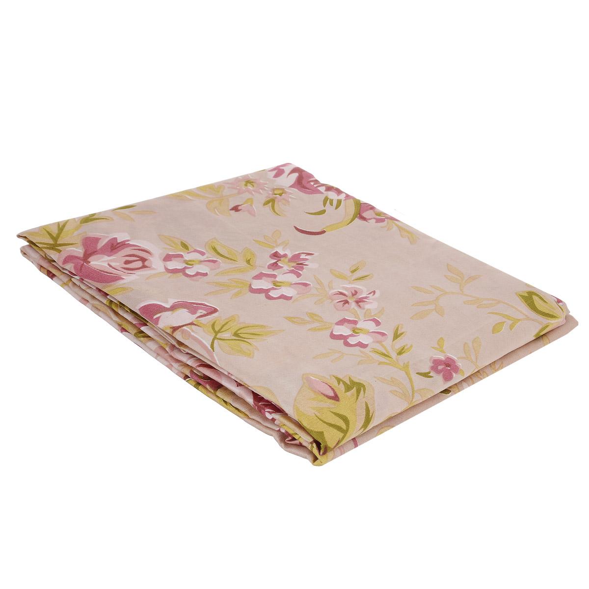 Комплект штор Ноты счастья, на петлях, цвет: розовый, зеленый, высота 220 см шторы для комнаты tomdom комплект штор агно розовый 260 см