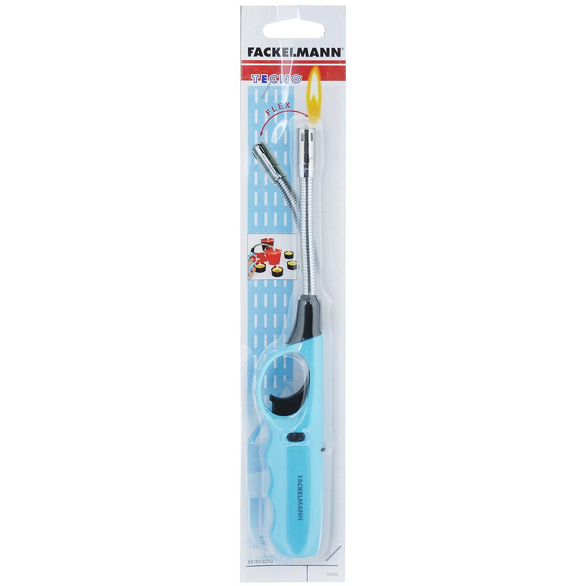 Фото - Пьезозажигалка для газовой плиты Fackelmann Tecno, со встроенной емкостью для газа, цвет: голубой пьезозажигалка fackelmann 16 см