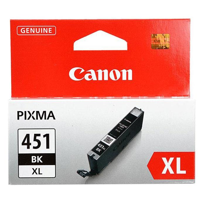 Картридж Canon CLI-451 BK XL, черный, для струйного принтера, оригинал