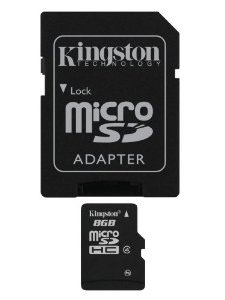 Kingston microSDHC Class 4 8GB карта памяти с адаптером