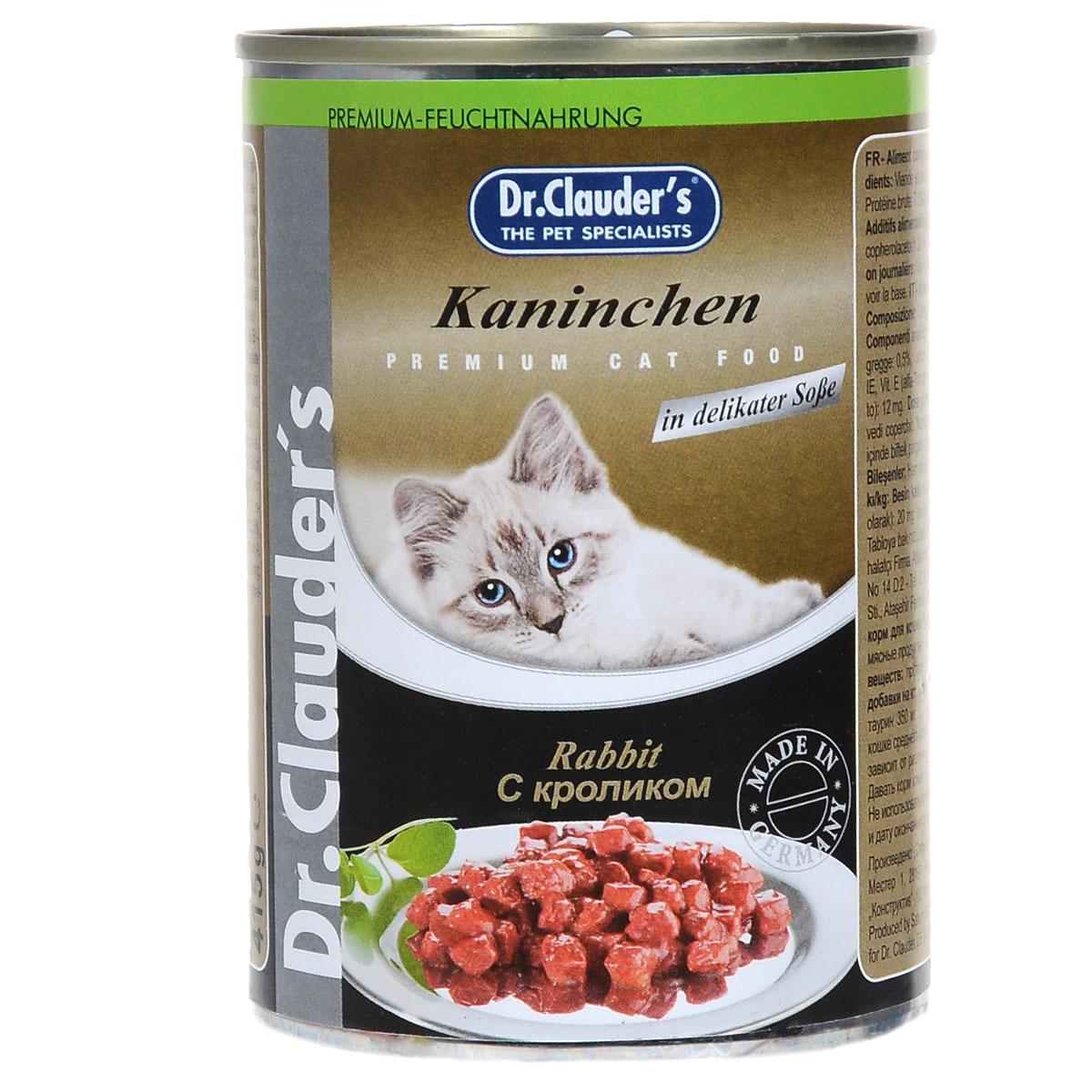 """Консервы для кошек """"Dr. Clauder's"""", кролик, 415 г"""