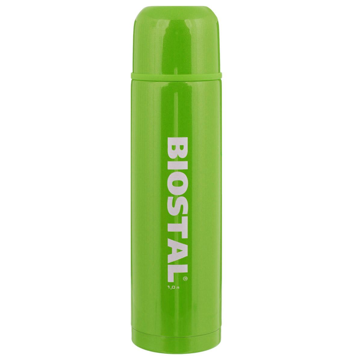 "Термос BIOSTAL ""Fler"", цвет: зеленый, 1 л. NB-1000С-G"