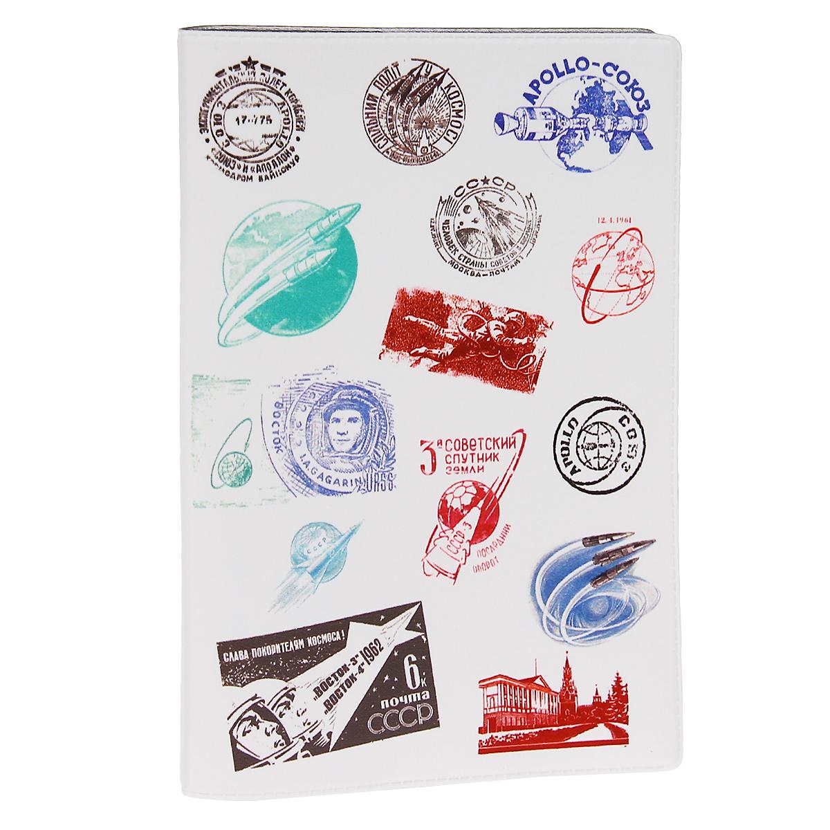 купить Обложка для автодокументов Штампики о космосе. AUTOZAM277 онлайн
