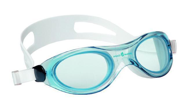 Маска для плавания MadWave Panoramic, цвет: голубой чехол для чемодана routemark atla цвет мультиколор размер m l 65 74 см