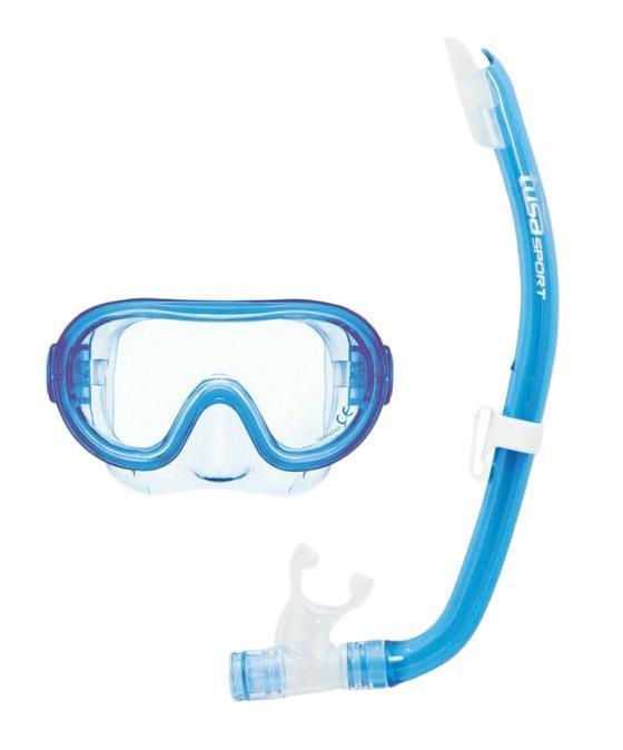 Комплект детский для плавания Tusa Sport UCR1214 CLB, (маска+трубка), цвет: голубой все цены