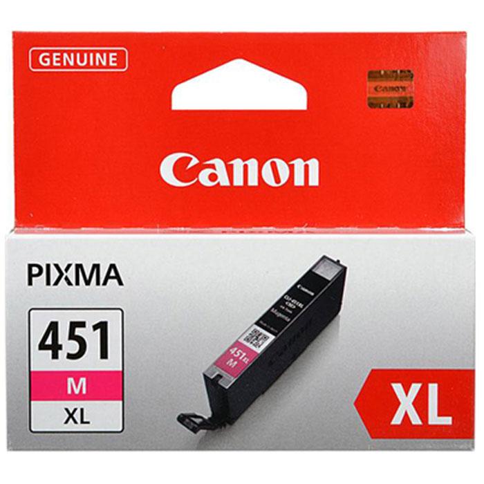 Картридж Canon CLI-451 M XL, пурпурный, для струйного принтера