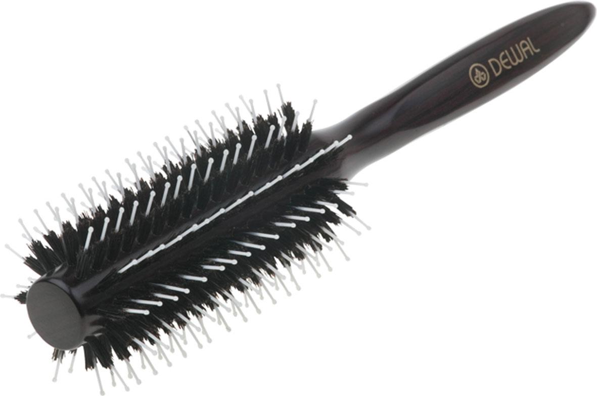 Dewal Расческа круглая, с натуральной щетиной и пластиковыми зубцами. BR2050 цены онлайн