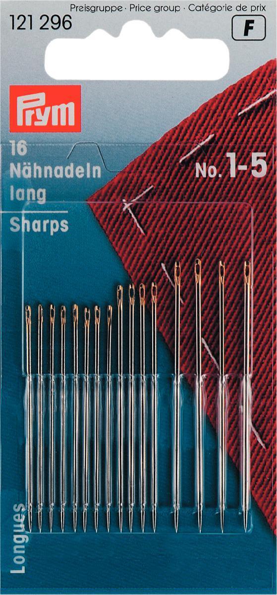 Набор игл ручных Prym, для шитья, №1-5, 16 шт набор игл ручных prym для шитья 1 5 16 шт