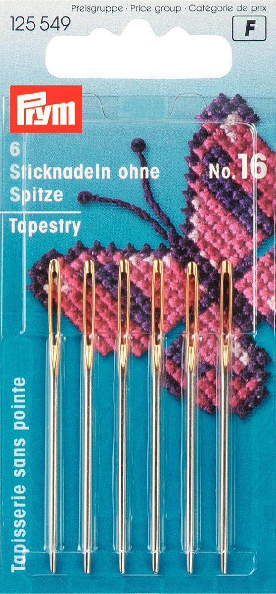 Набор игл ручных Prym, для вышивания, №16, 6 шт набор игл ручных prym для шитья 1 5 16 шт