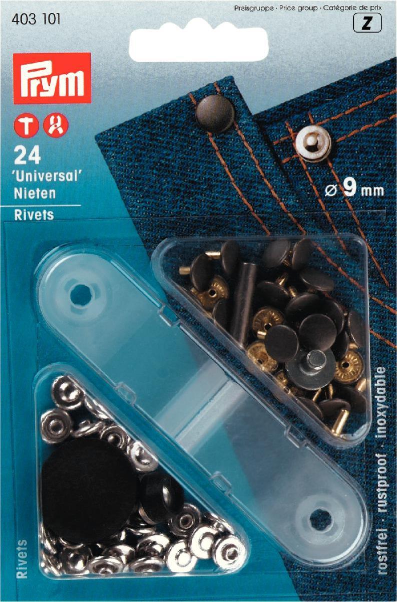 """Клепки """"Prym"""", двусторонние, цвет: серебристый, состаренное железо, диаметр 9 мм, 24 шт"""