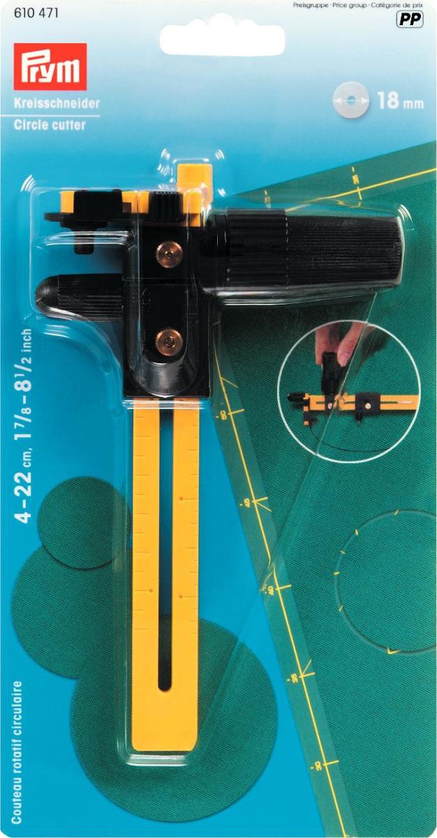 Нож-циркуль Prym, круговой, цвет: желтый, черный лобзик hammer lzk850l