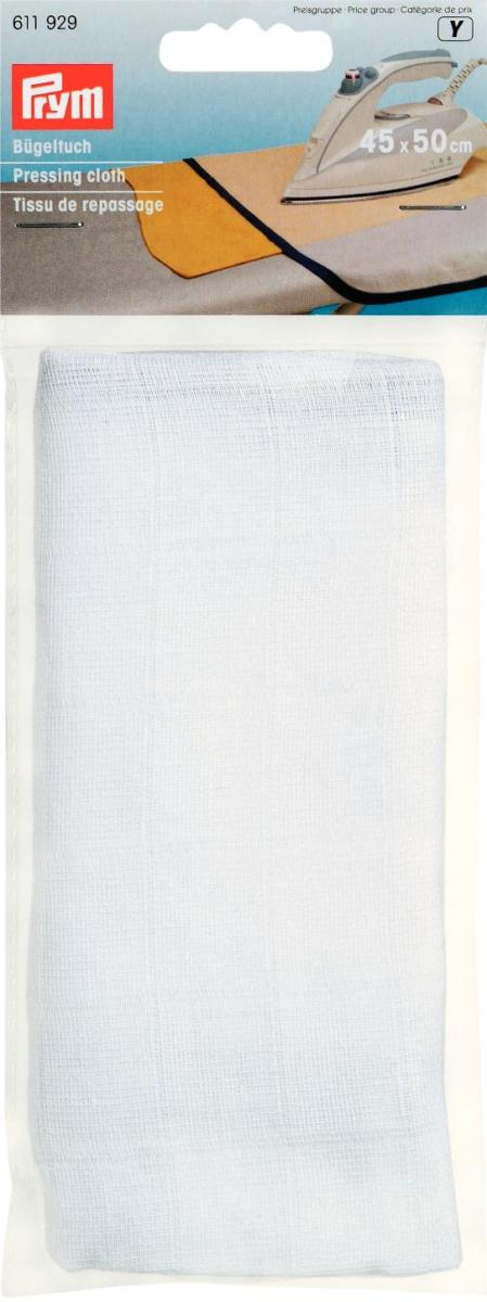 Полотно для глажки,45*50см,белый,100%хлопок,1шт в блистере. (10130022/101212/0009545/19, ГЕРМАНИЯ )