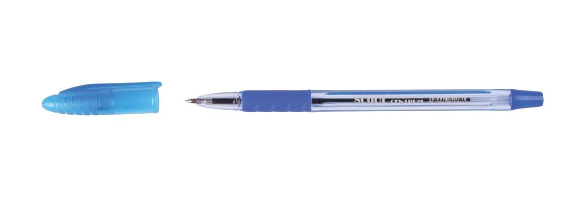 80088 Ручка SCOUT синяя Centrum, 0,7 мм 50 шт. centrum centrum набор скрепок цветных 50 мм 6 штук crazy pets