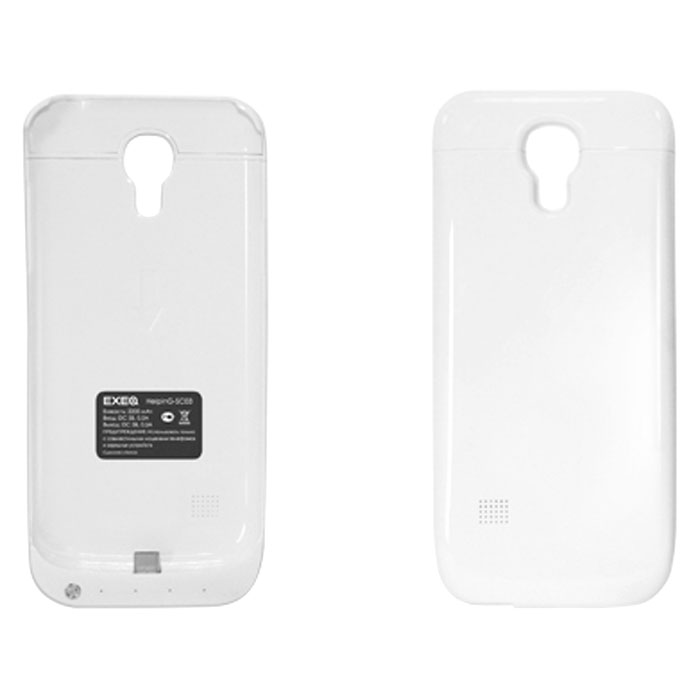 EXEQ HelpinG-SC03 чехол-аккумулятор для Samsung Galaxy S4 mini, White (2200 мАч, клип-кейс) чехол аккумулятор helping ic01 черный 1900 мач