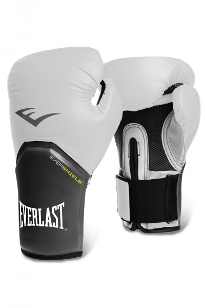 """Перчатки тренировочные Everlast """"Pro Style Elite"""", цвет: белый, 12 унций"""
