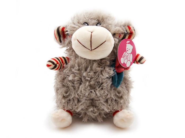 Фото - Мягкая игрушка Овечка с цветком, цвет: серый, 26 см magic bear toys мягкая игрушка овечка цвет фиолетовый 42 см
