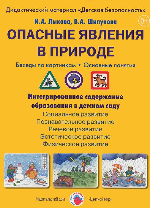 И. А. Лыкова, В. А. Шипунова Опасные явления в природе. Беседы по картинкам. Основные понятия. Дидактический материал (набор из 8 карточек)