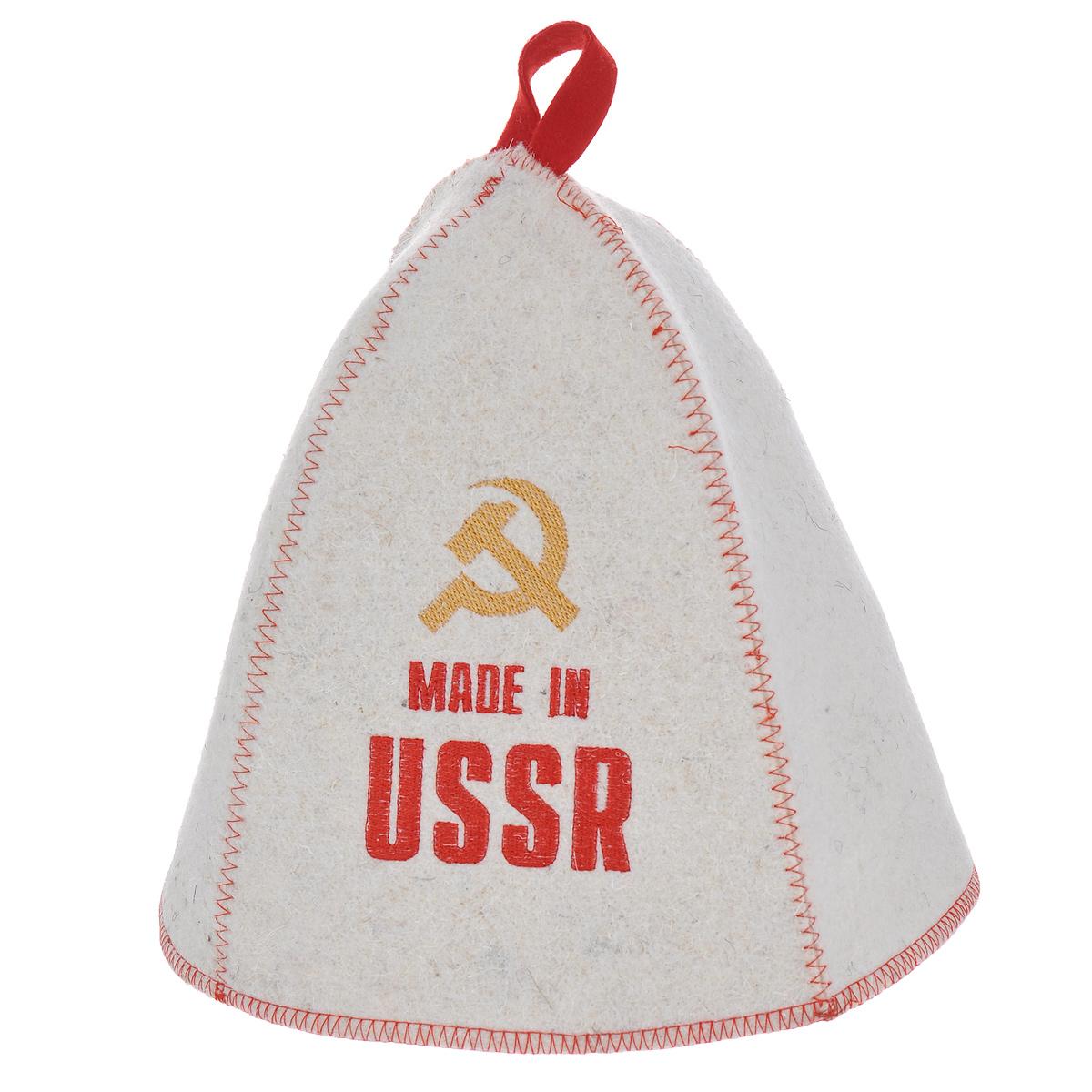 Шапка банная Made in USSR, войлок шапка банная всё будет хорошо принт войлок