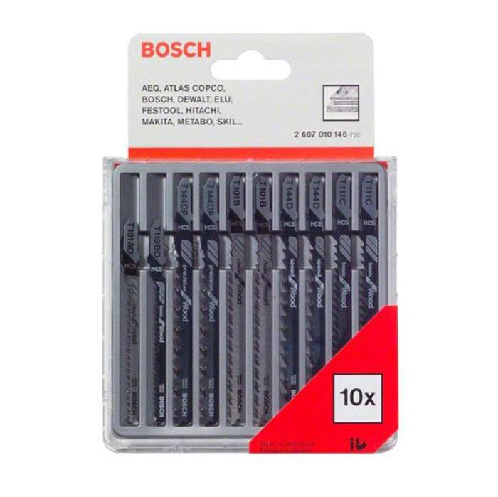 Набор пилок по дереву Bosch, Т-образный хвостик, 10 шт цены