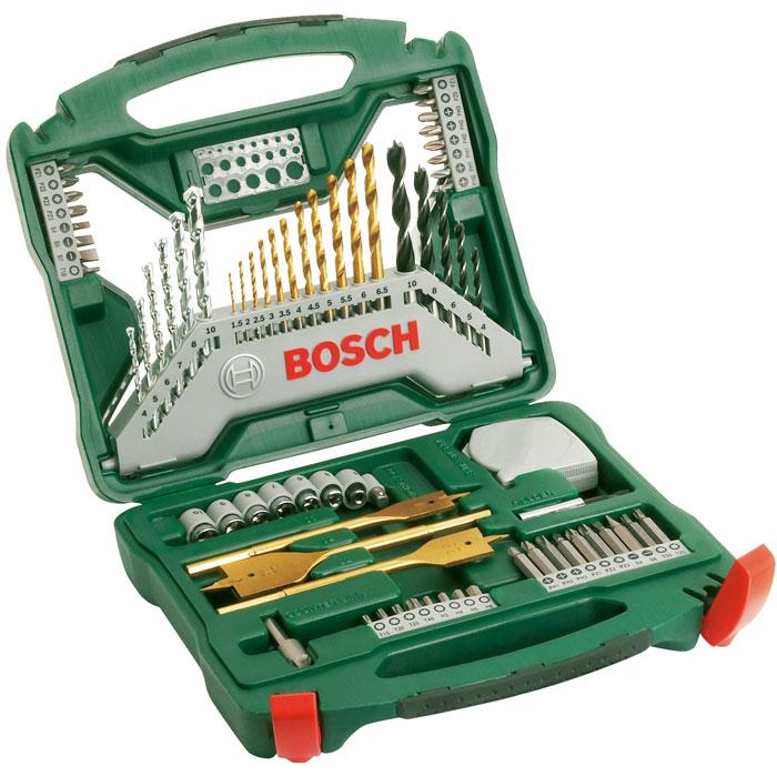 Набор бит и сверл Bosch X-Line, 70 предметов набор бит и сверел bosch x line 70 2607019329879