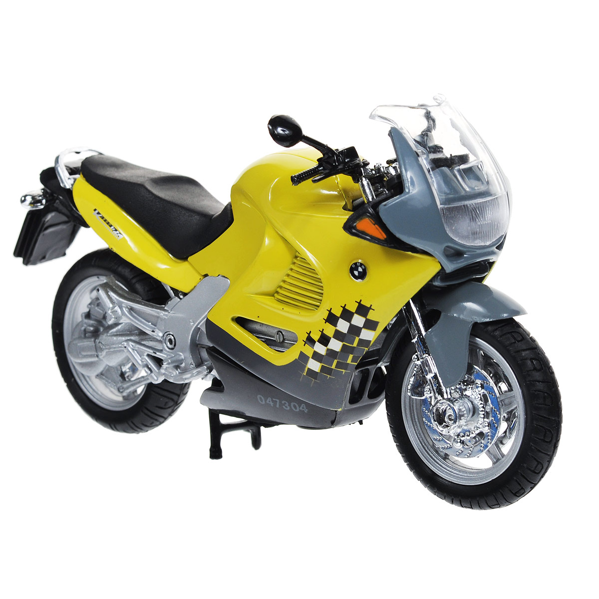 Autotime Коллекционная модель мотоцикла BMW K1200RS, цвет: желтый, серый. Масштаб 1/18 autotime модель автомобиля uaz 39625 гражданская