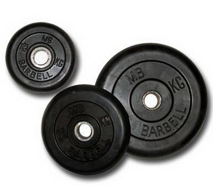Диск обрезиненный MB BARBELL черный 25 кг DR-MB51-25B диск обрезиненный body solid 5 фунтов 2 25 кг ort5