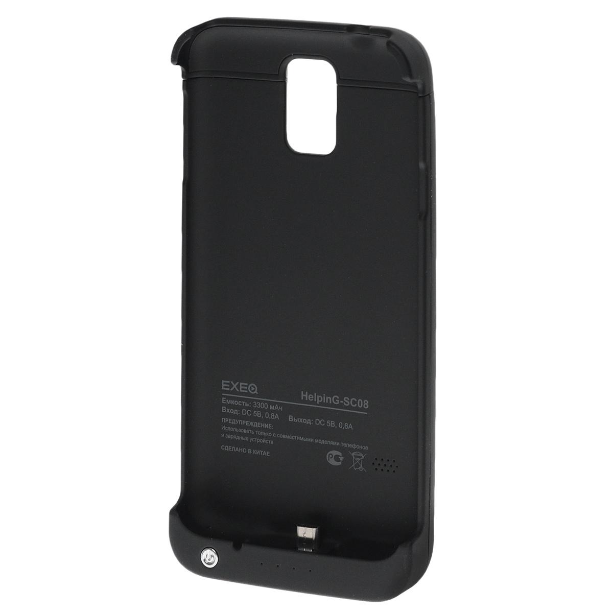 все цены на EXEQ HelpinG-SC08 чехол-аккумулятор для Samsung Galaxy S5, Black (3300 мАч, клип-кейс) онлайн