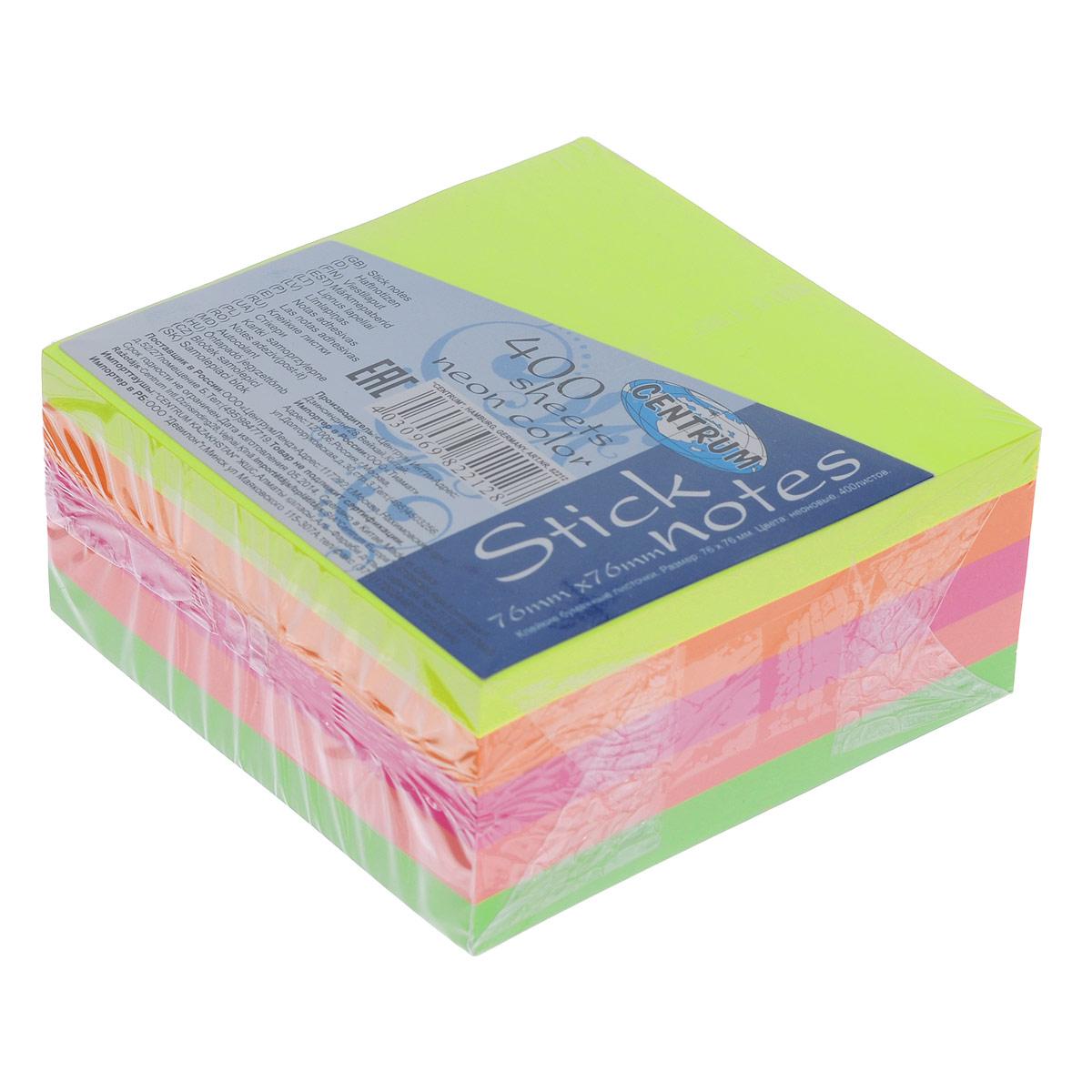 Блок для записей Centrum, с липким слоем, 7,6 см х 7,6 см блок закладка с липким слоем разм 12х44мм пластик 5 цветов по 25л диспенс с ев п