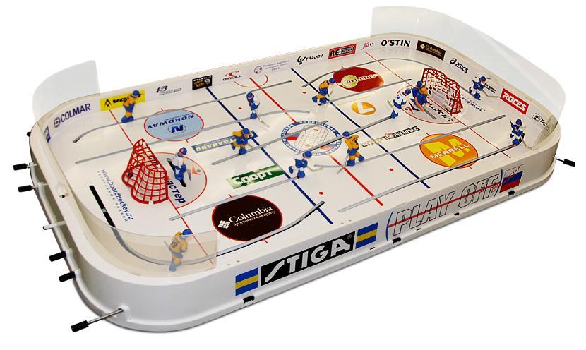 Хоккей настольный Stiga Play Off, цвет: белый настольный хоккей stiga play off 71 1143 70
