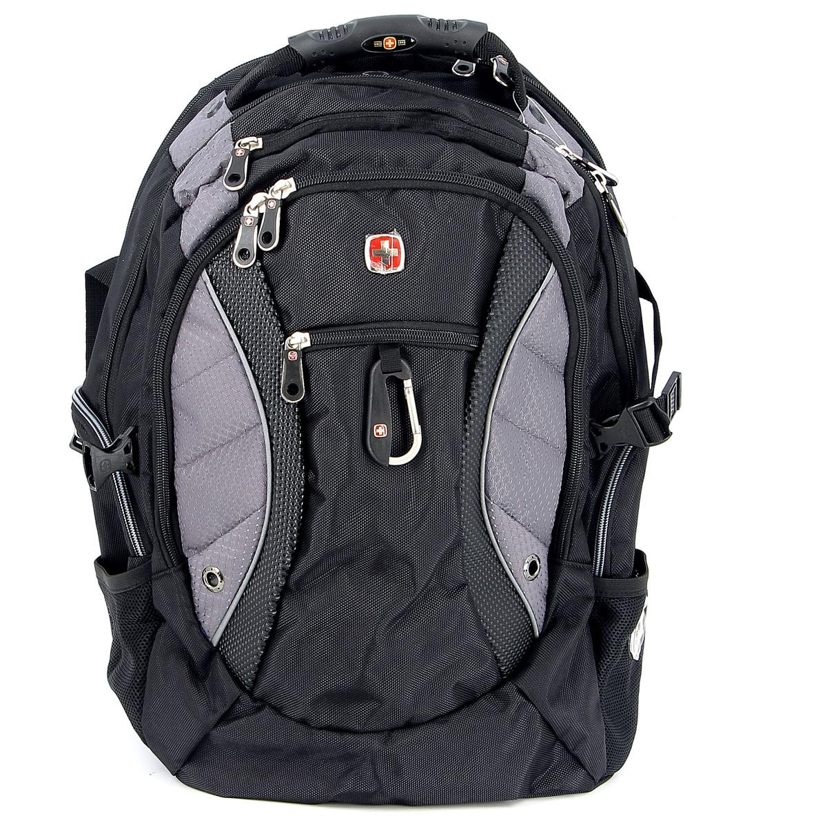 цена на Рюкзак Wenger Neo, цвет: черный, серый, 35 см х 23 см х 48 см, 39 л