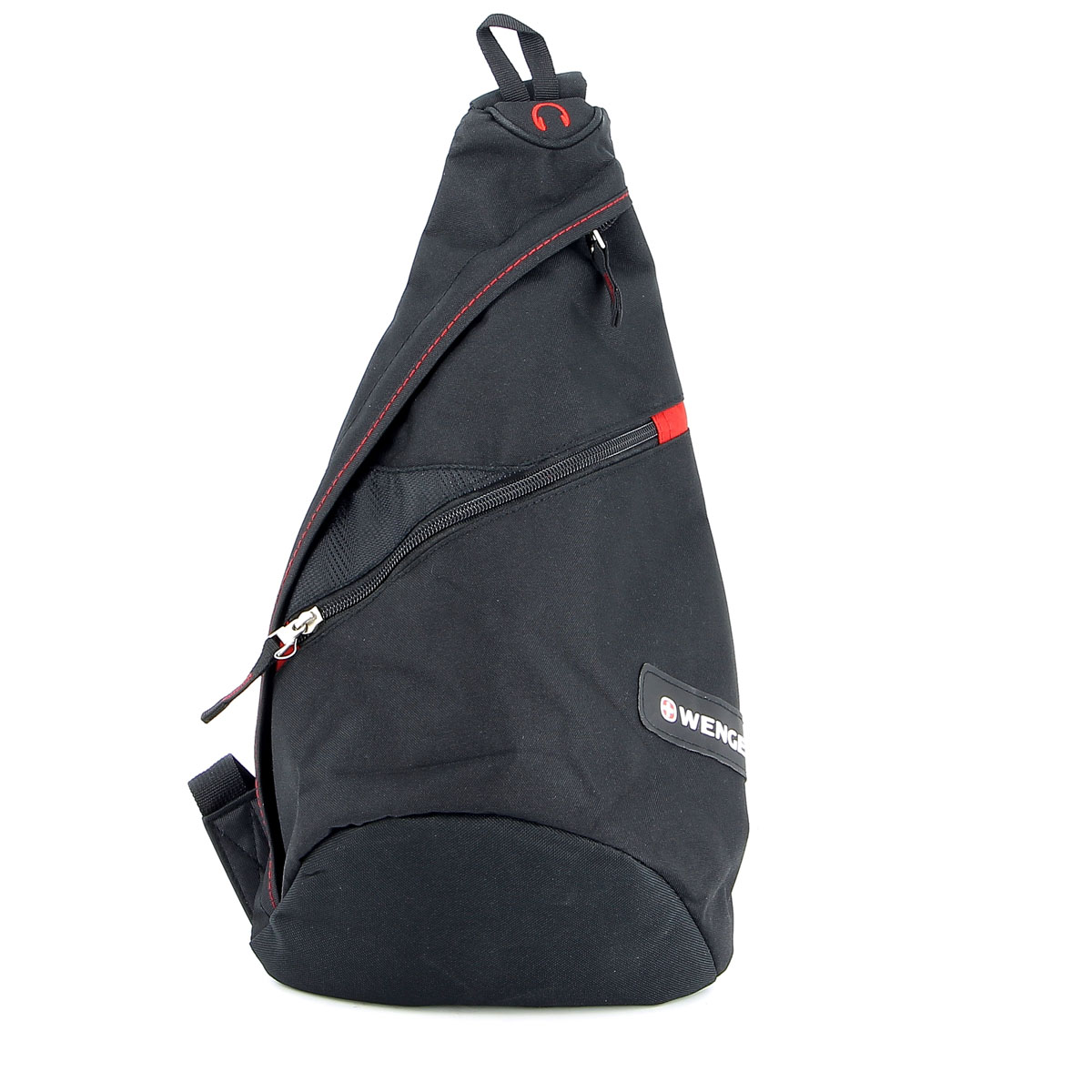 Рюкзак Wenger, с одним плечевым ремнем, цвет: черный, красный, 25 см x 15 см x 45 см, 7 л цена 2017