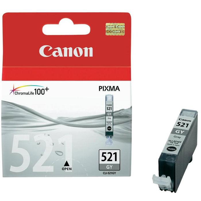 Картридж Canon CLI-521GY, серый, для струйного принтера, оригинал