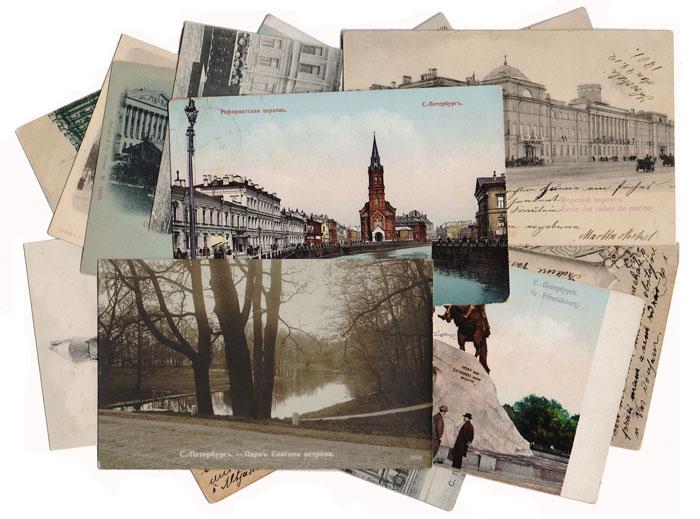 Елка рисунок, наборы открыток санкт-петербург