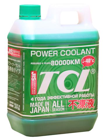 Антифриз TCL Power Coolant, готовый, цвет: зеленый, 2 л антифриз ravenol hjc hybrid japanese coolant premix 40°c готовый цвет зеленый 5 л
