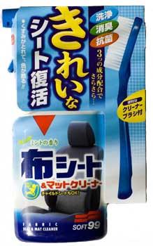 Очиститель интерьера Soft99 Fabric Seat Cleaner, с щеткой, 400 мл полироль покрытие д светлых авто soft99 12мес 200гр