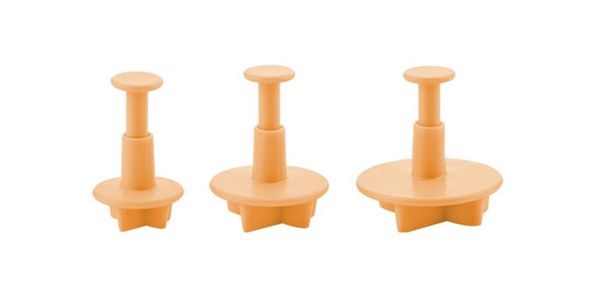 Формочки с поршнем Tescoma Delicia Deco, цвет: желтый, 3 шт. 632942 формочки для пудинга tescoma delicia 4 шт