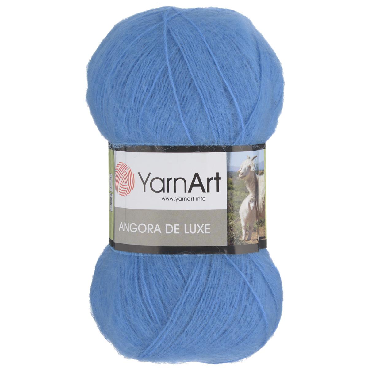 """Пряжа для вязания YarnArt """"Angora De Luxe"""", цвет: ярко-голубой (600), 520 м, 100 г, 5 шт"""
