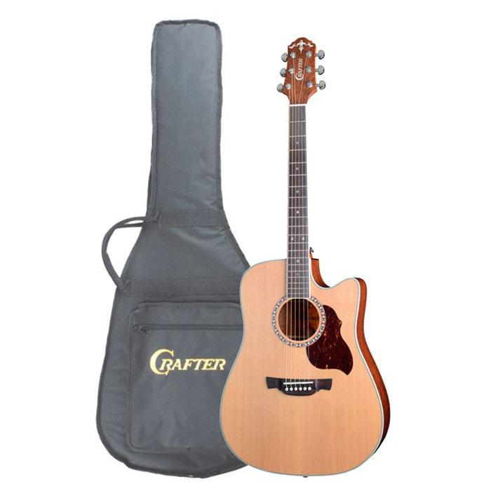 Crafter DE-7/N электро-акустическая гитара + чехол