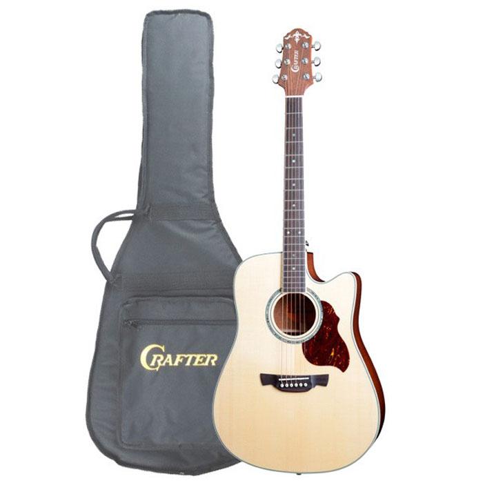 цена на Crafter DE-8/N электро-акустическая гитара + чехол