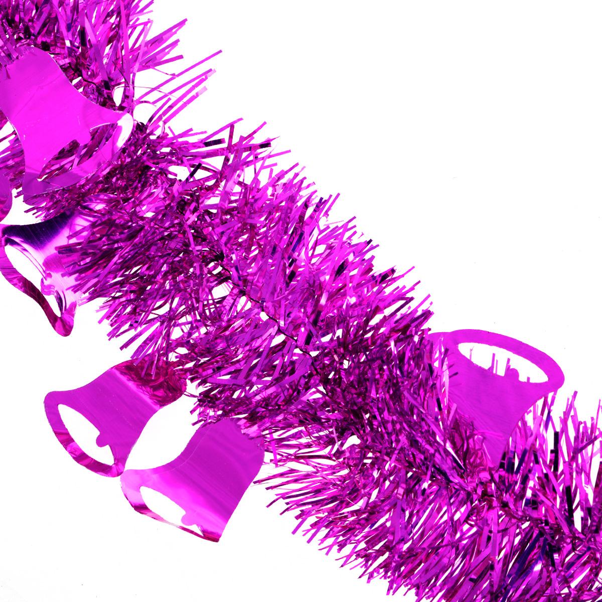 """Мишура новогодняя """"Sima-land"""", цвет: малиновый, диаметр 8 см, длина 2 м. 702594"""