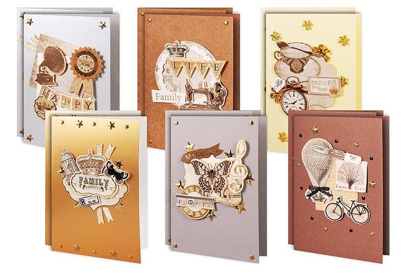 Набор для создания открыток Ретро набор для создания открыток ретро