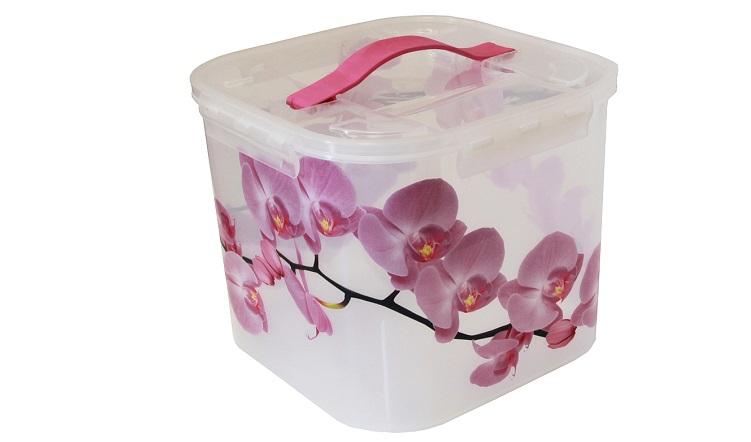 Контейнер для хранения Idea Орхидея, 7 л ящики для игрушек альтернатива башпласт контейнер лапландия 7 л
