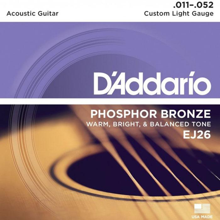 D'Addario EJ26 струны для акустической гитары струны для акустической гитары d addario ez910
