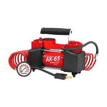 """Компрессор автомобильный """"Autoprofi AK-65"""", металлический, двухпоршневой, производительность 65 л/мин, 12В, 300Вт"""