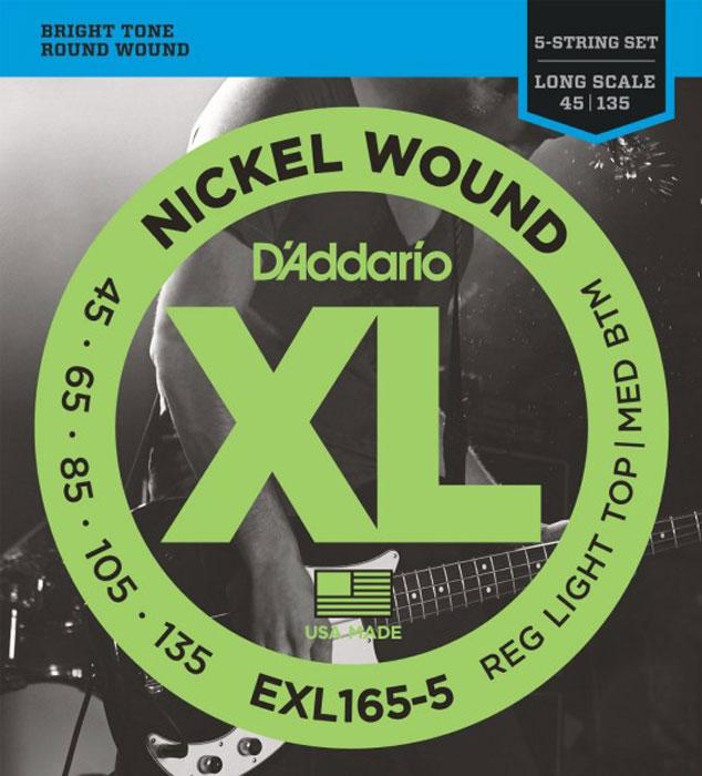 D'Addario EXL165-5 струны для бас-гитары цена