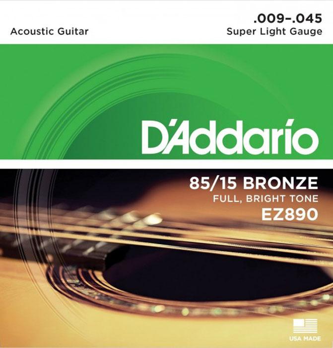 D'Addario EZ890 струны для акустической гитары струны для акустической гитары d addario ez910