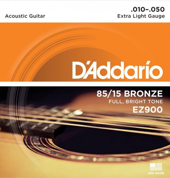 D'Addario EZ900 струны для акустической гитары струны для акустической гитары d addario ez910