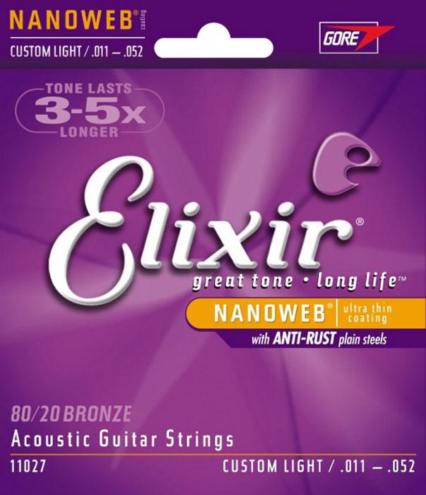 Elixir 11027 струны для акустической гитары