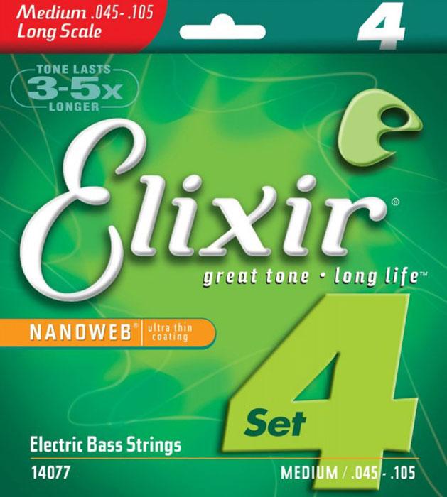 Elixir 14077 струны для бас-гитары