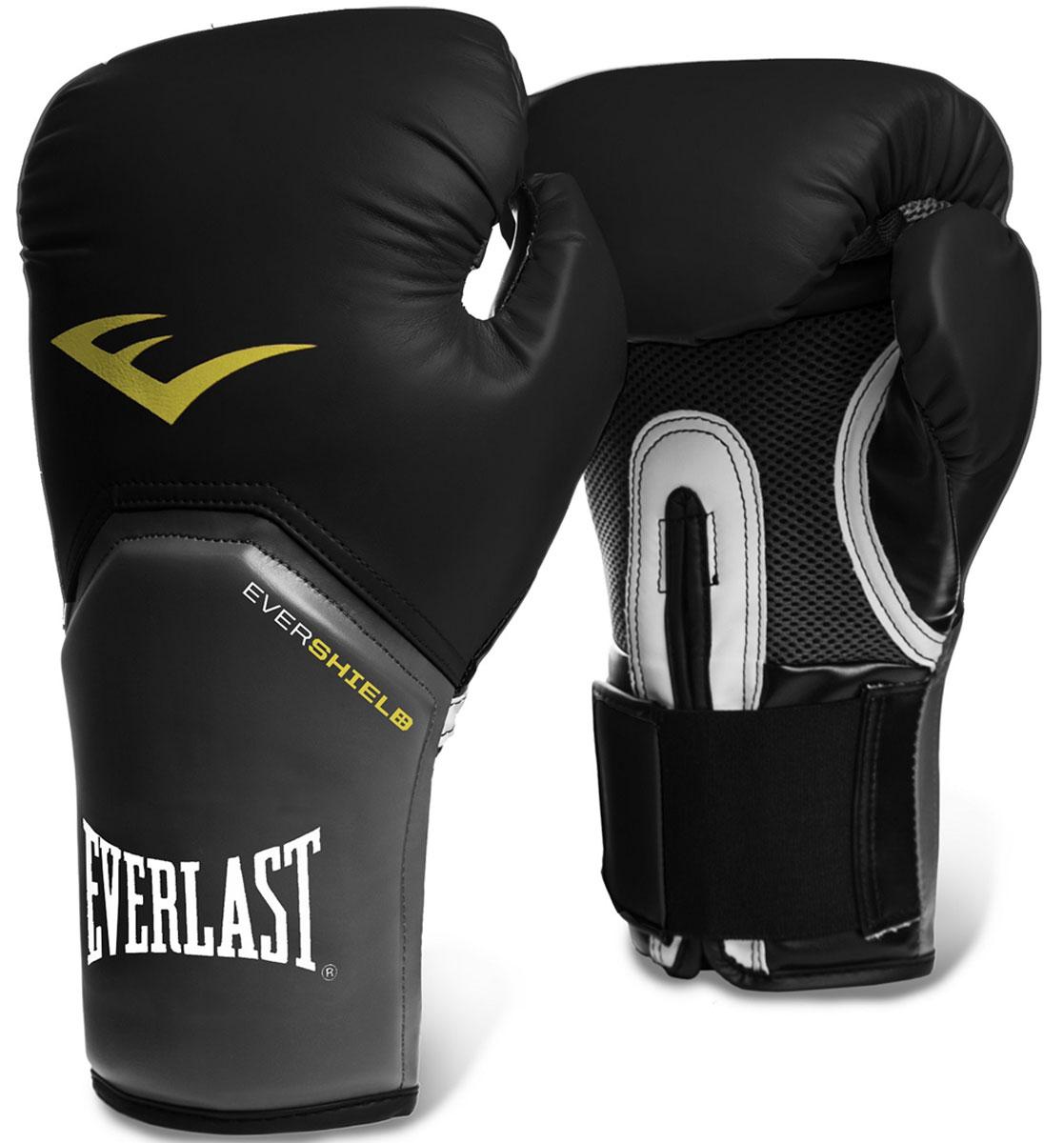 """Перчатки тренировочные Everlast """"Pro Style Elite"""", цвет: черный, 12 унций"""